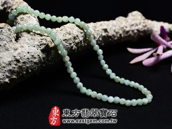 葡萄石天然珠串項鍊左側照片 葡萄石項鍊(葡萄石珠子,珠徑約4mm,MPB008)。客製化設計各種葡萄石珠串、葡萄石珠子、葡萄石項鍊、葡萄石手珠。★附天然玉石保證卡