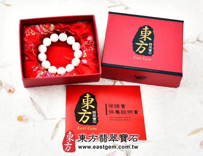 白硨磲天然玉石珠串手鍊出貨照片 白硨磲手鍊(白硨磲珠子、白車渠珠子,珠徑約16.5mm,WCG001)。客製化設計各種白硨磲珠串、白硨磲珠子、白硨磲手鍊、白硨磲手珠。★附東方翡翠寶石保證卡