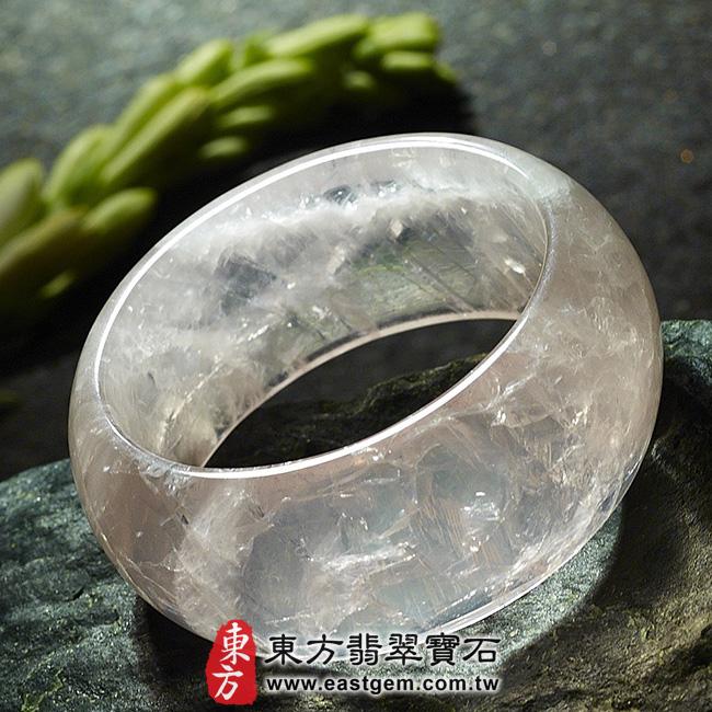 冰種粉晶天然手鐲玉鐲平面照片  冰種粉晶手鐲、粉晶手鐲。(粉色,半透光,圓鐲17.5,PI005)。客製化訂做各種冰種粉晶手鐲、粉晶手鐲。★附東方翡翠寶石雙證書