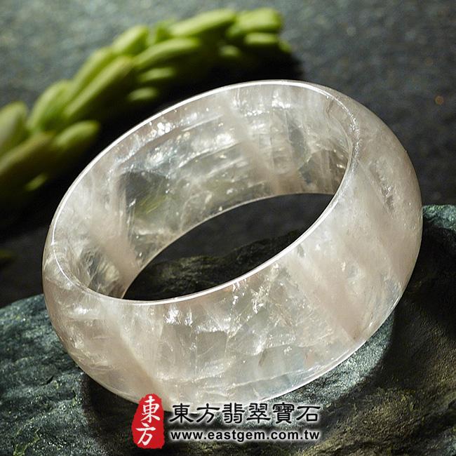 冰種粉晶天然手鐲玉鐲平面照片  冰種粉晶手鐲、粉晶手鐲。(粉色,半透光,圓鐲17.5,PI011)。客製化訂做各種冰種粉晶手鐲、粉晶手鐲。★附東方翡翠寶石雙證書