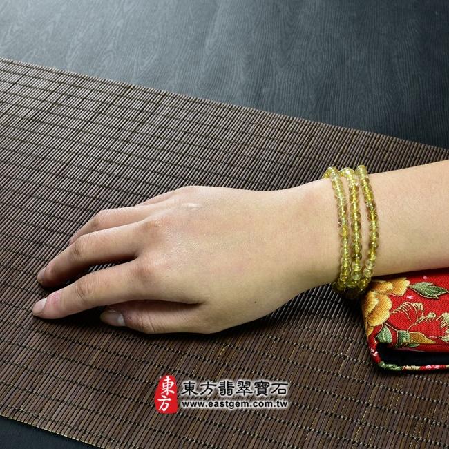 髮晶項鍊情境照片 髮晶項鍊(髮晶珠子,珠徑約5mm,OFJ237) 客製化設計各種髮晶珠串、髮晶珠子、髮晶項鍊、髮晶手珠。★附東方翡翠寶石保證卡