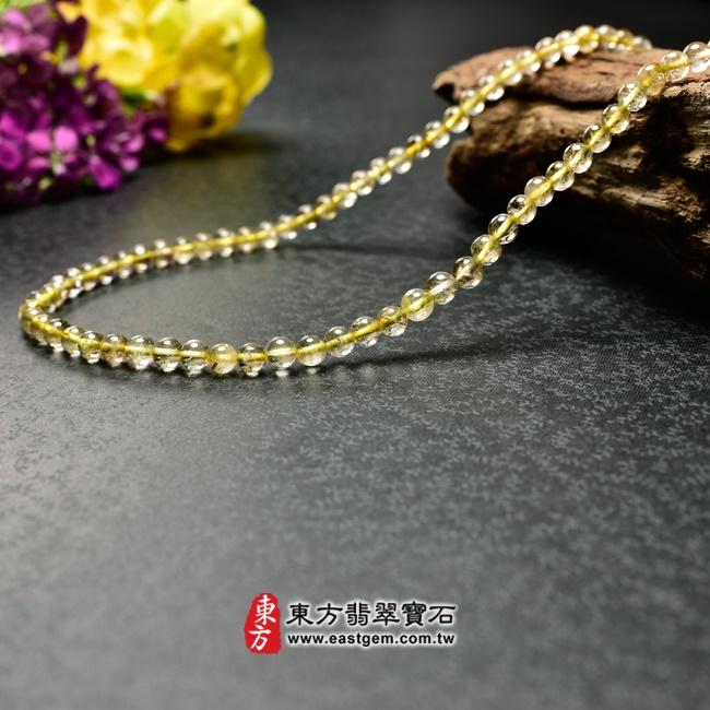髮晶項鍊右側照片 髮晶項鍊(髮晶珠子,珠徑約5mm,OFJ238) 客製化設計各種髮晶珠串、髮晶珠子、髮晶項鍊、髮晶手珠。★附東方翡翠寶石保證卡