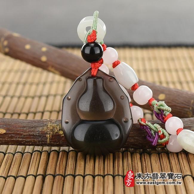 黑曜石葫蘆項鍊玉珮情境照片